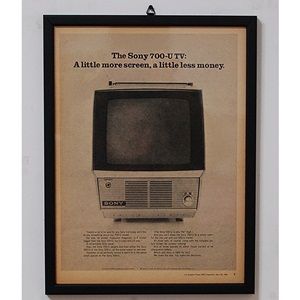 1968' THE SONY 700-U TV
